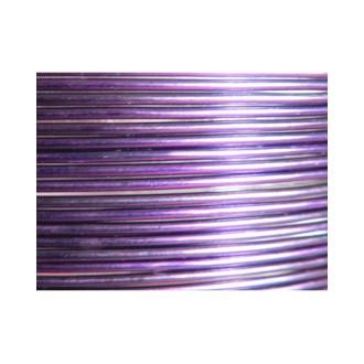 5 Mètres fil aluminium aubergine 1,5mm