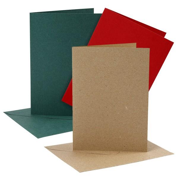 Cartes et enveloppes - 12,7 x 17,8 cm - 4 sets - Photo n°1