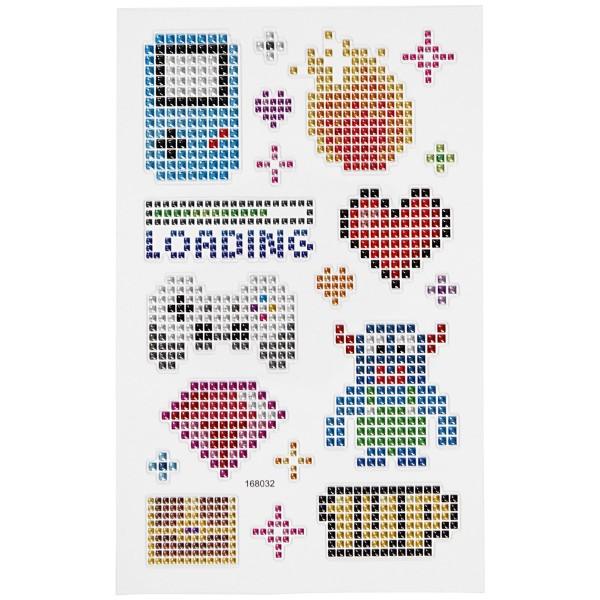 Stickers Strass - Jeux vidéo - 19 pcs - Photo n°2