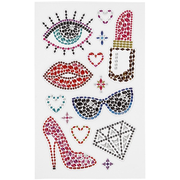 Stickers Strass - Girly - 14 pcs - Photo n°2