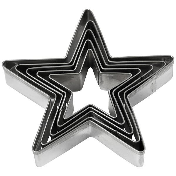Emporte pièces inox - Étoiles - 5 pcs - Photo n°1