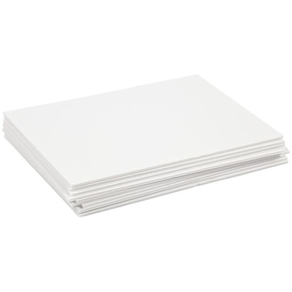 Carton plume A4 blanc - 3 mm - 10 pcs - Photo n°1