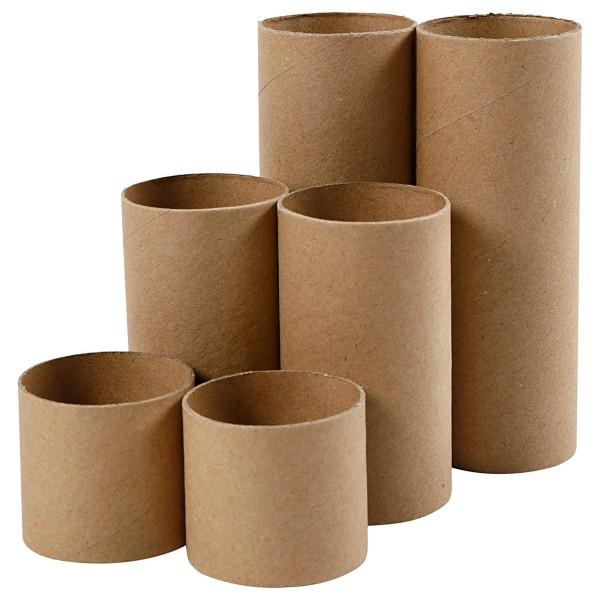 Assortiment de rouleaux en carton - 6 pcs - Photo n°1
