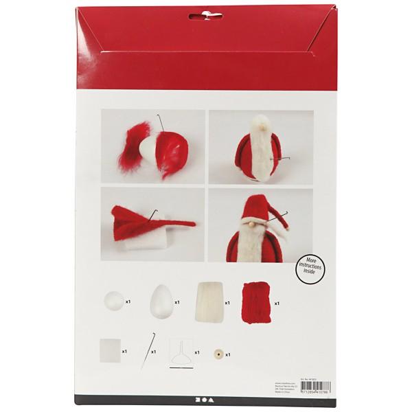 Maxi Kit créatif de Noël - Père Noël à feutrer - 1 pce - Photo n°3