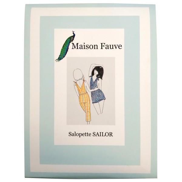 Patron Maison Fauve - Salopette et Combishort Sailor - Tailles 34 à 46 - Photo n°1