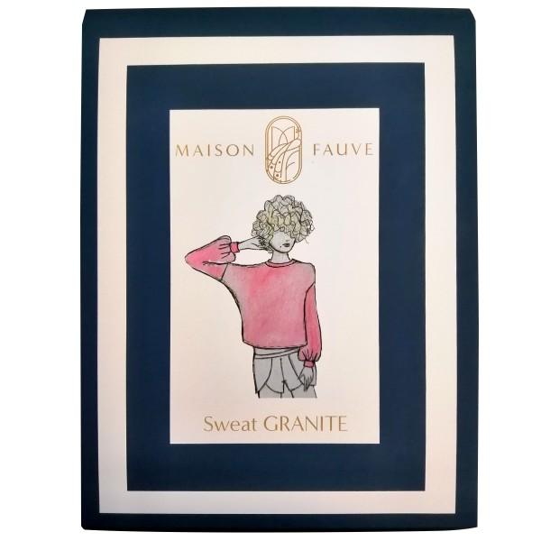 Patron Maison Fauve - Sweat Granite - Tailles 34 à 46 - Photo n°1