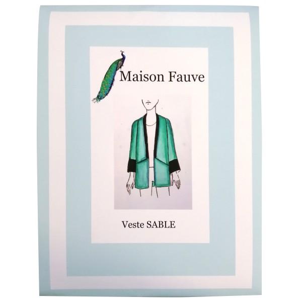 Patron Maison Fauve - Veste Criollo - Tailles 34 à 46 - Photo n°1