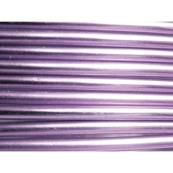 1 Mètre fil aluminium lilas clair 3mm - Photo n°1