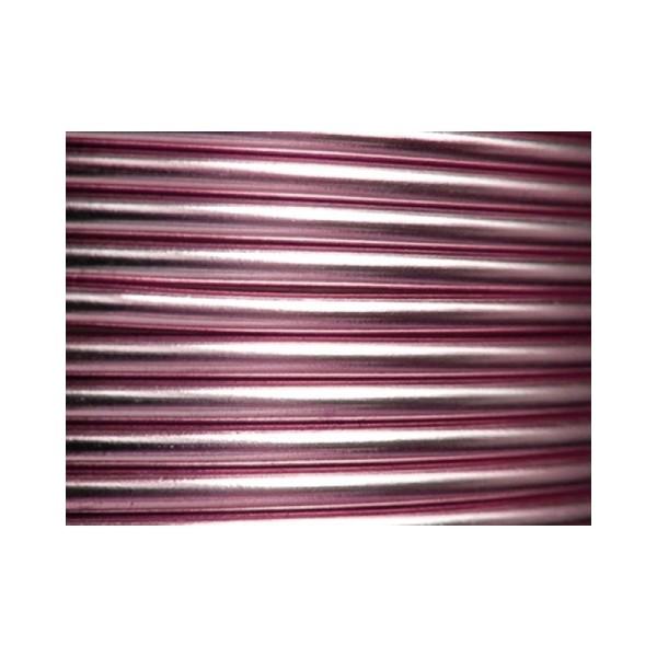 2 Mètres fil aluminium rose clair 3mm - Photo n°1