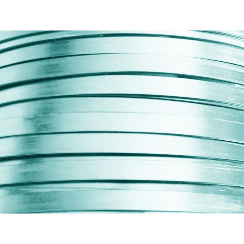 2 Mètres fil aluminium plat bleu glacé 5mm - Photo n°1