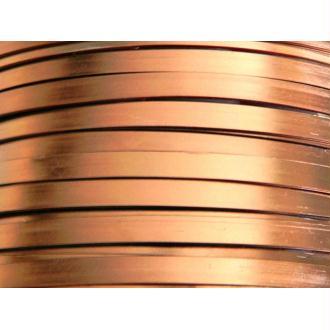 1 Mètre fil aluminium plat cuivre 5mm