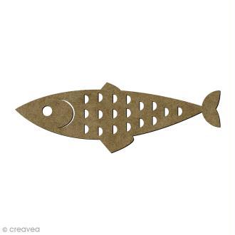 Sardine en bois - 11 x 3,5 cm