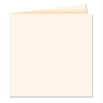 Papier Pollen carte double 160 x 160 Ivoire x 25