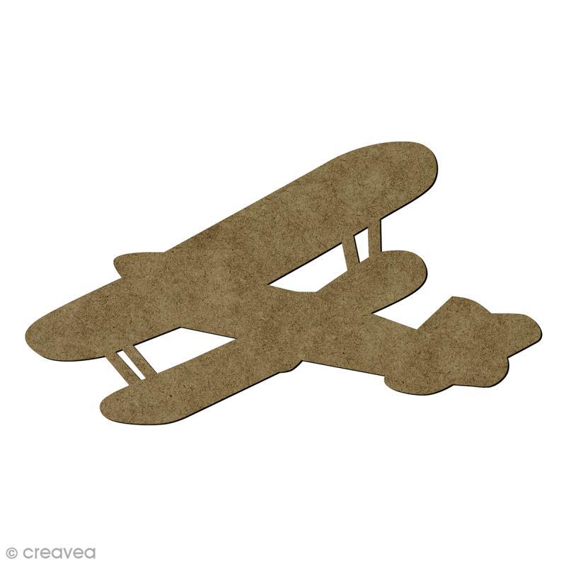 Avion vintage en bois - 4,2 x 2,7 cm - Photo n°1