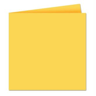 Papier Pollen carte double 160 x 160 Jaune soleil x 25