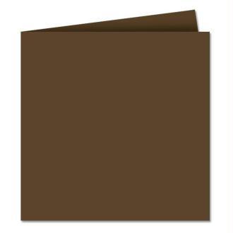 Papier Pollen carte double 160 x 160 Marron taupé x 25