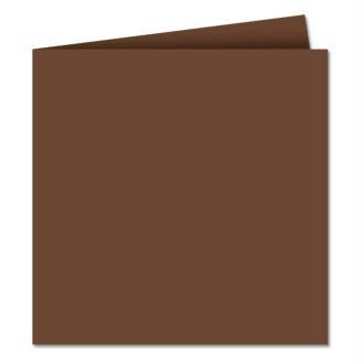 Papier Pollen carte double 160 x 160 Cacao x 25