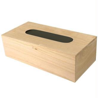 Boite à mouchoirs en bois avec fond