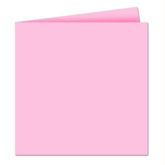 Papier Pollen carte double 160 x 160 Rose x 25