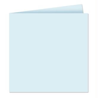 Papier Pollen carte double 160 x 160 Bleu x 25