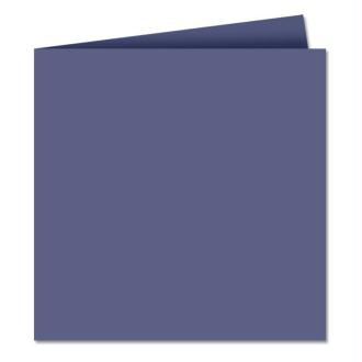 Papier Pollen carte double 160 x 160 Bleu nuit x 25