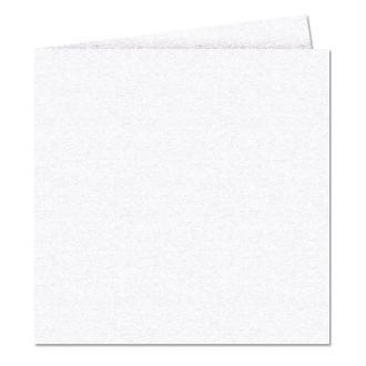 Papier Pollen carte double 160 x 160 Blanc irisé x 25