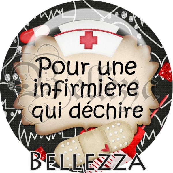 Cabochon, infirmiere, medical, plusieurs tailles disponibles - Photo n°1