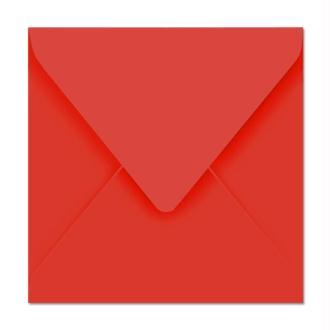 Enveloppe Pollen 165 x 165 Rouge corail x 20
