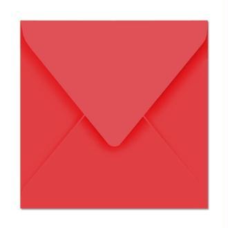 Enveloppe Pollen 165 x 165 Rouge groseille x 20