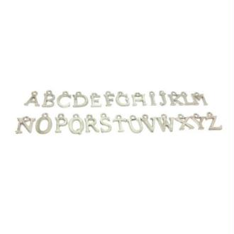26 Breloques Lettres Alphabet Argent Platine