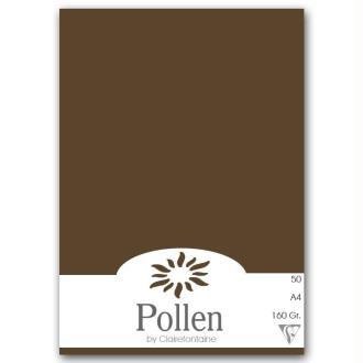 Papier Pollen A4 50 feuilles Marron taupé