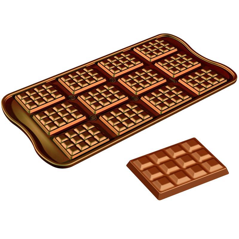 Coloriage tablette de chocolat - Dessin tablette chocolat ...
