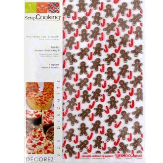 Papier cuisson ScrapCooking Petit homme d'épices 6 feuilles 21 x 30 cm