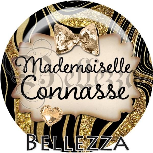 Cabochon, mademoiselle connasse, fantastique, texte, plusieurs tailles disponibles - Photo n°1