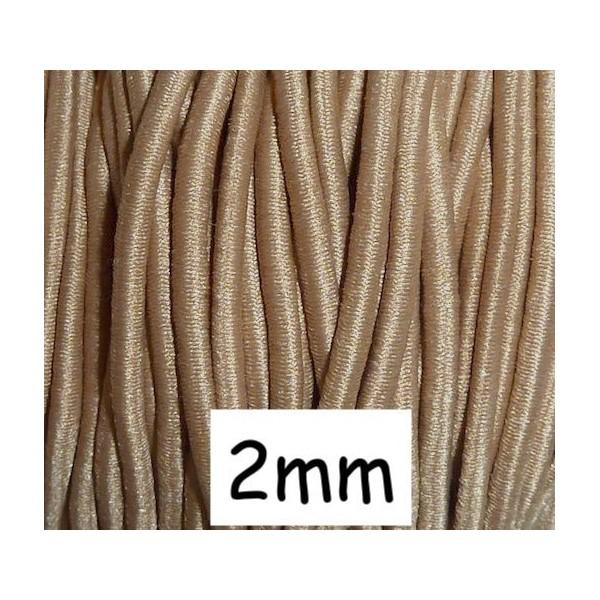 4m Élastique Rond 2mm De Couleur Camel - Photo n°1