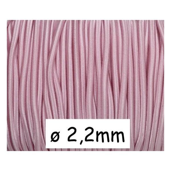 1m Fil Élastique 2,2mm De Couleur Rose Pâle - Photo n°1