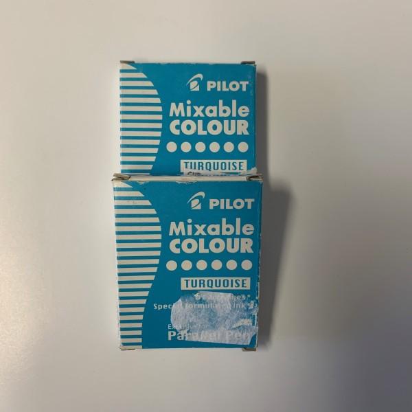Cartouches d'encre Pilot pour Parallel Pen - Bleu Turquoise - 6 pcs - Photo n°2