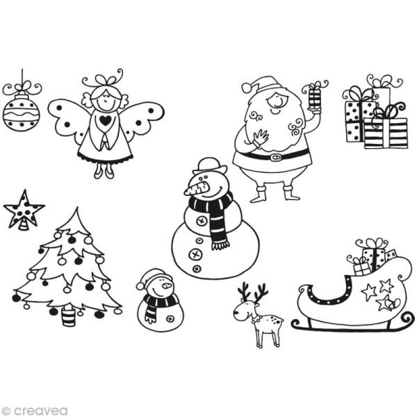Kit 10 tampons enfant Stampo'minos Noël - Photo n°2