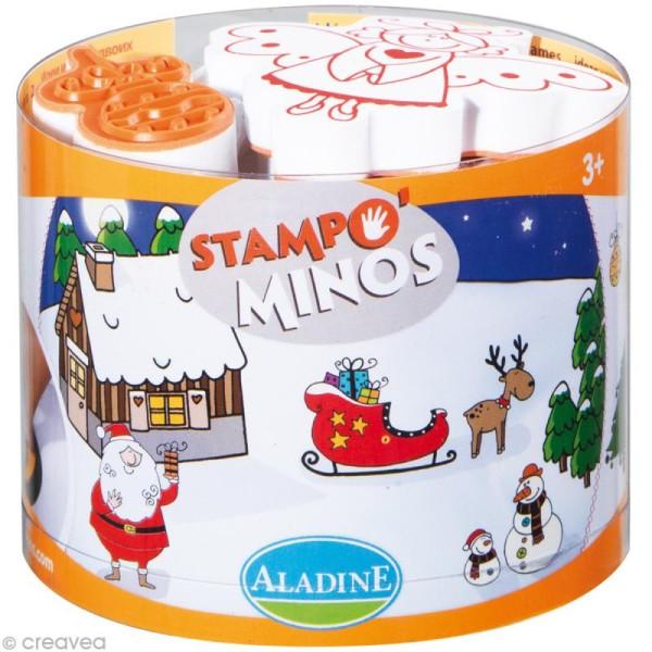 Kit 10 tampons enfant Stampo'minos Noël - Photo n°1