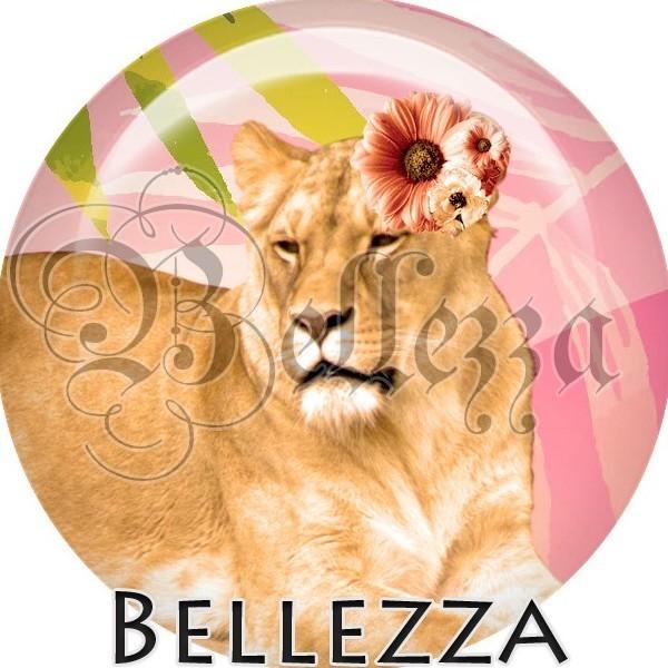 Cabochon, lionne, animaux divers, animaux, plusieurs tailles disponibles - Photo n°1