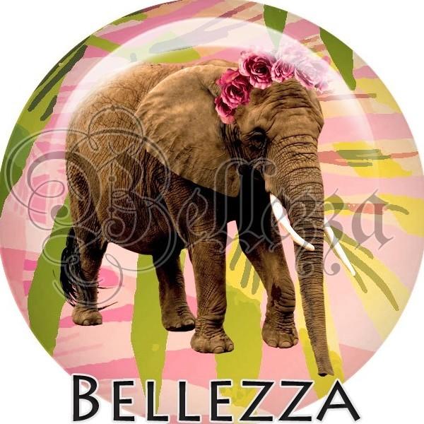 Cabochon, elephant, animaux divers, animaux, plusieurs tailles disponibles - Photo n°1