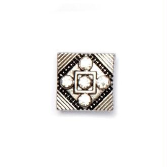 Bouton pression à clipser Mini Clixy carré et strass 12 mm