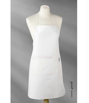 Tablier retro coton semi-blanc pour adulte - Pébéo