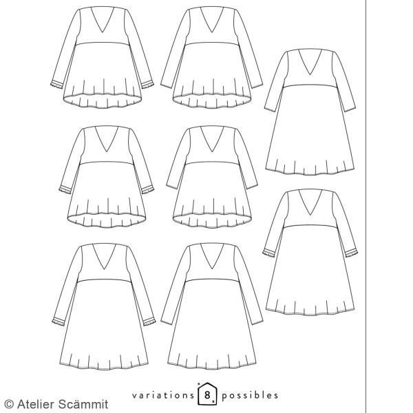 Patron couture Atelier Scammit - Blouse et Robe Zephir - Taille 34 à 48 - Photo n°6