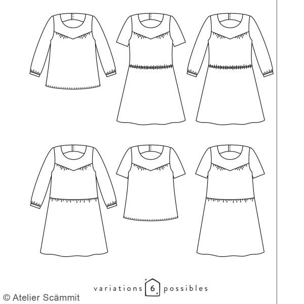 Patron couture Atelier Scammit - Blouse et Robe Artesane - Taille 34 à 48 - Photo n°6