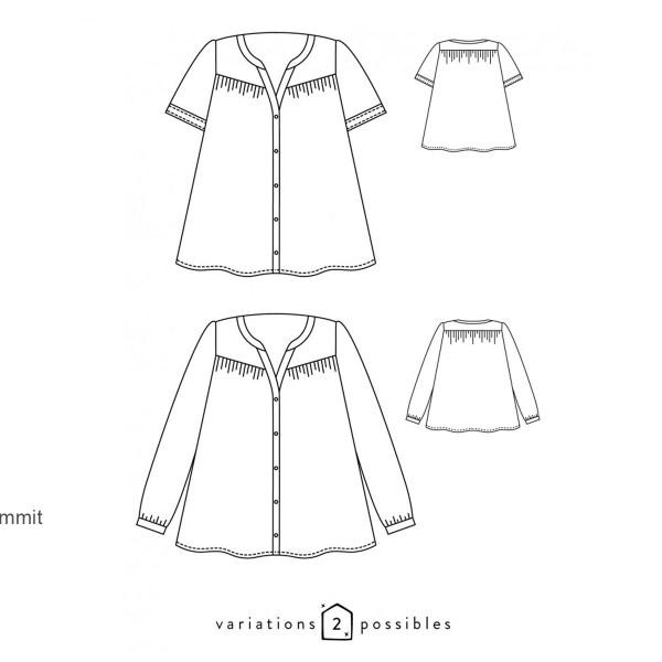 Patron couture Atelier Scammit - Blouse Envol - Taille 34 à 48 - Photo n°6