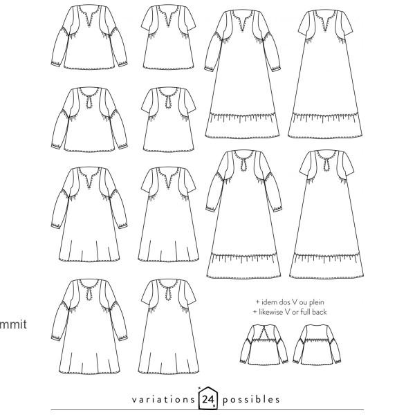 Patron couture Atelier Scammit - Blouse et Robe Petites choses - Taille 34 à 48 - Photo n°6