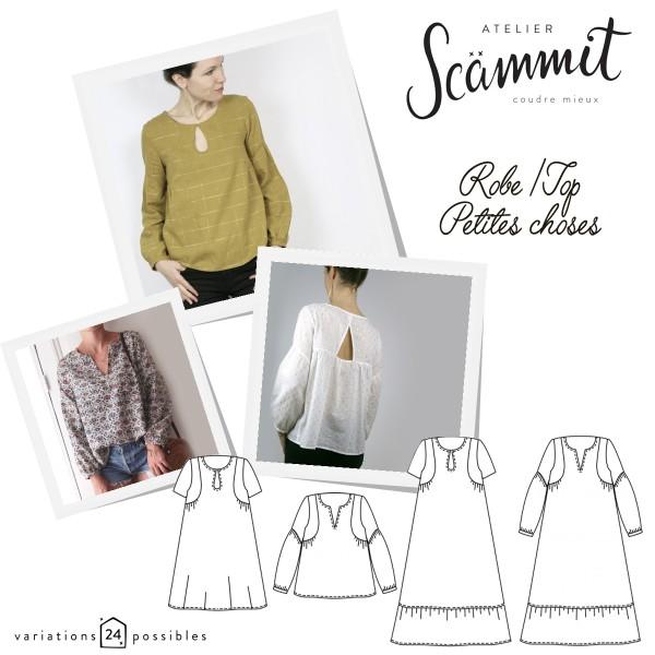 Patron couture Atelier Scammit - Blouse et Robe Petites choses - Taille 34 à 48 - Photo n°1