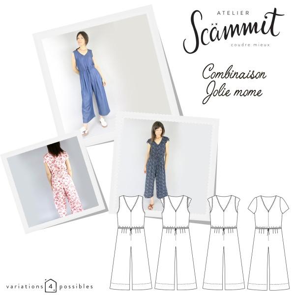 Patron couture Atelier Scammit - Combinaison Jolie Môme - Taille 34 à 48 - Photo n°1
