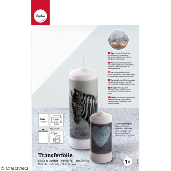 Feuille de transfert pour bougie - A4 - 1 feuille - Photo n°1